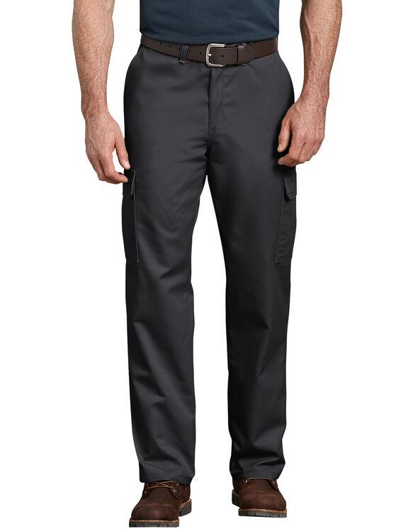 Pantalon cargo renforcé et décontracté à jambe droite - Noir (BK)