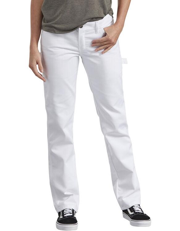 Pantalon de peintre de qualité supérieure pour femmes - Blanc (WH)