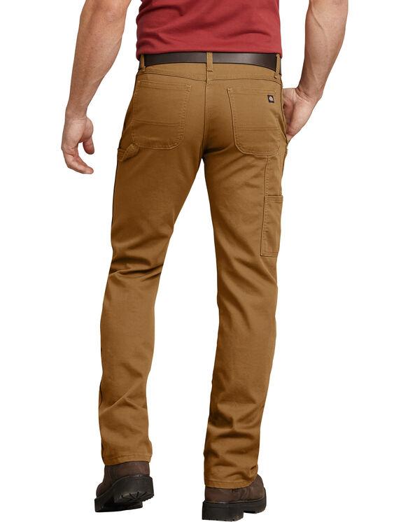 Pantalon menuisier FLEX, coupe standard, jambe droite, en coutil Tough Max™ - Stonewashed Brown Duck (SBD)