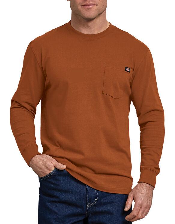 T-shirt à manches longues avec poche - Gingerbread Brown (IE)