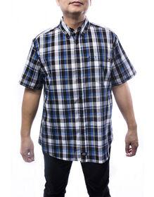 Weekend Men's Short Sleeve Plaid Shirt - BLUE (BL9)