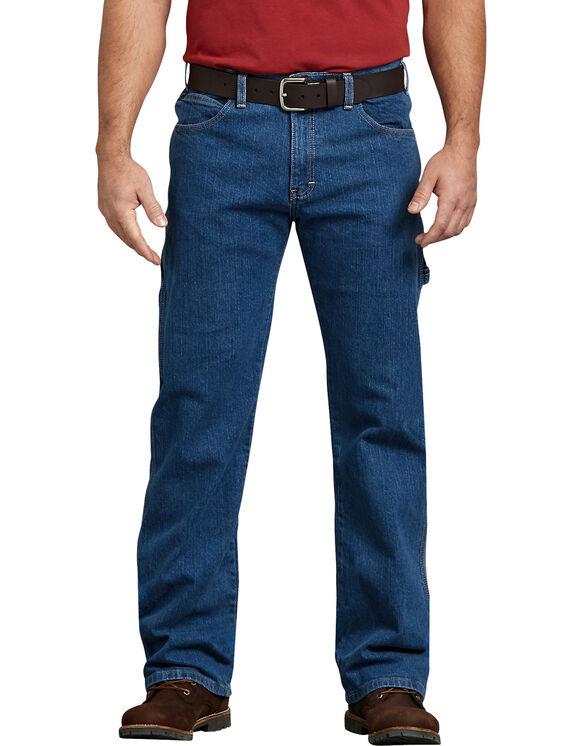 Flex Relaxed Fit Straight Leg Carpenter Denim Jean - Stonewashed Indigo Blue (FSI)