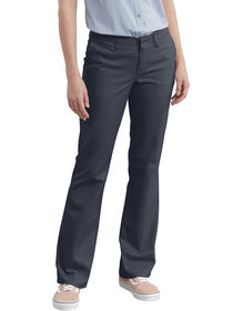 Women's Slim Fit Bootcut Stretch Twill Pants - Dark Navy (DN)
