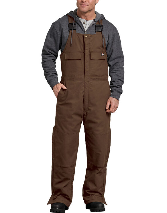 Sanded Duck Insulated Bib Overall - Timber Brown (TB)