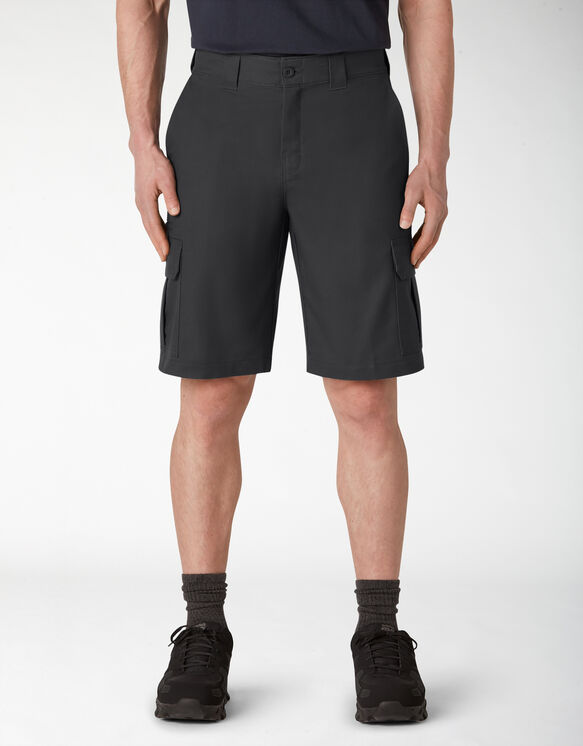 Cooling Temp-iQ™ Active Waist Twill Cargo Shorts - Black (BK)