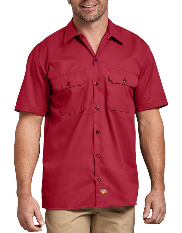 Chemise de travail à manches courtes - Rouge anglais (ER)