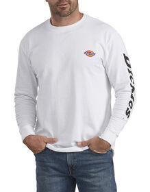 Heavyweight Long-Sleeve Graphic T-Shirt - White (WH)