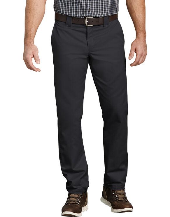 Pantalon de travail FLEX à poche multi-usage, coupe ajustée et jambe fuselée - Noir (BK)