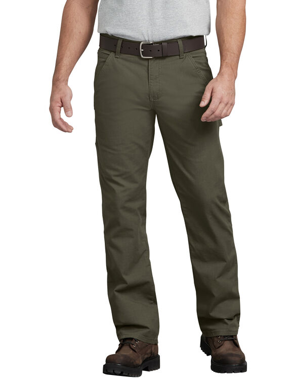 FLEX Regular Fit Straight Leg Tough Max™ Ripstop Carpenter Pant - Moss Green (RMS)
