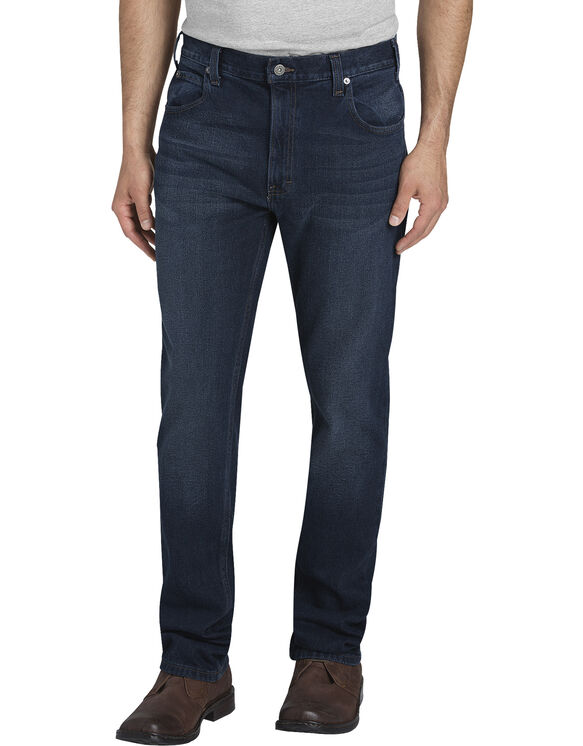 Jeans 5 poches Dickies X-Series Flex à jambe fuselée - Dark Wash Stretch Indigo (DSI)