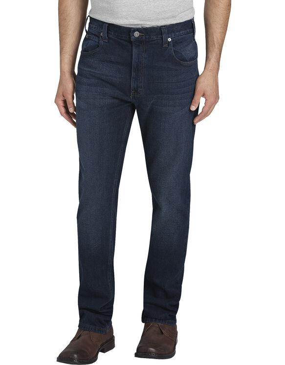Dickies X-Series Slim Fit Tapered Leg 5-Pocket Denim Jeans - Dark Wash Stretch Indigo (DSI)