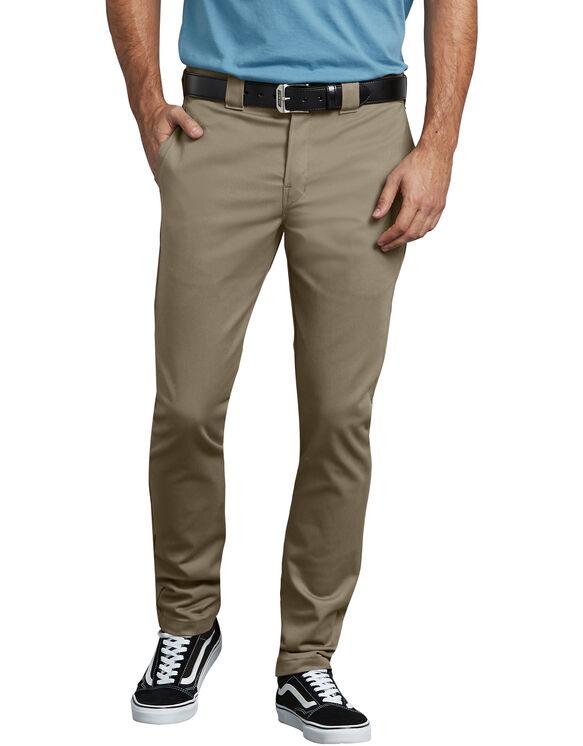 Pantalon de travail FLEX en sergé à coupe ajustée et étroite - Dark Khaki (BT)
