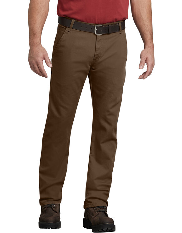 FLEX Regular Fit Straight Leg Tough Max™ Duck Carpenter Pants - Stonewashed Timber Brown (STB)