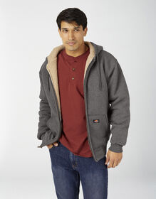 Sherpa Lined Fleece Hoodie - Dark Heather Gray (DH)
