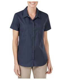 Women's Industrial Short Sleeve Work Shirt - Dark Navy (DN)