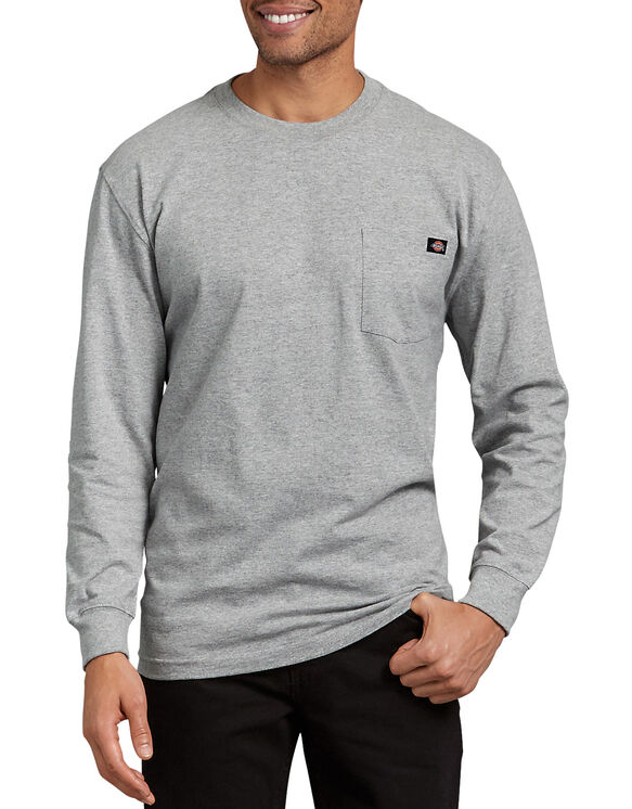 Long Sleeve Heavyweight Crew Neck Tee - Heather Gray (HG)
