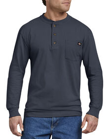 Long Sleeve Heavyweight Henley Shirt - Dark Navy (DN)