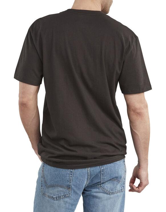 T-shirt à manches courtes de coupe décontractée avec imprimé - Black (BK)