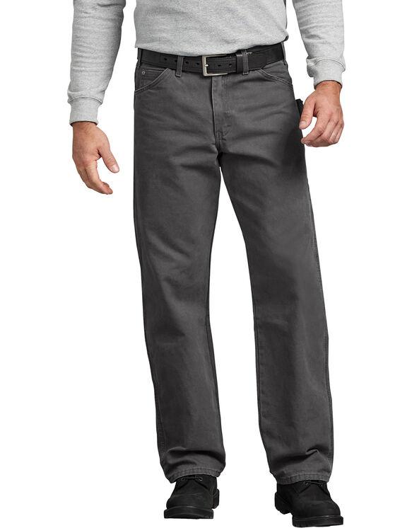 Relaxed Fit Straight Leg Carpenter Duck Jeans - Dark Gray (RSL)