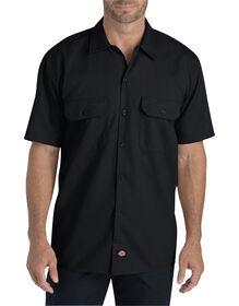 Chemise de travail à manches courtes en tissu croisé souple - Noir (BK)