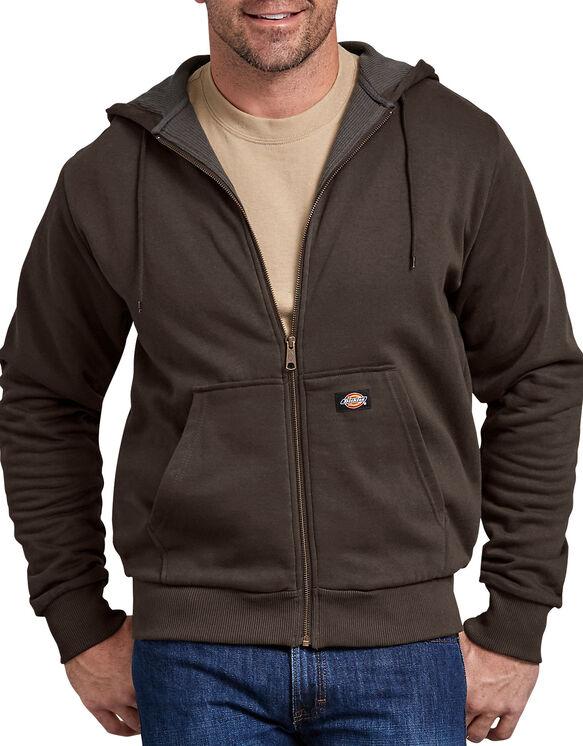Thermal Lined Fleece Hoodie - Dark Brown (DB)