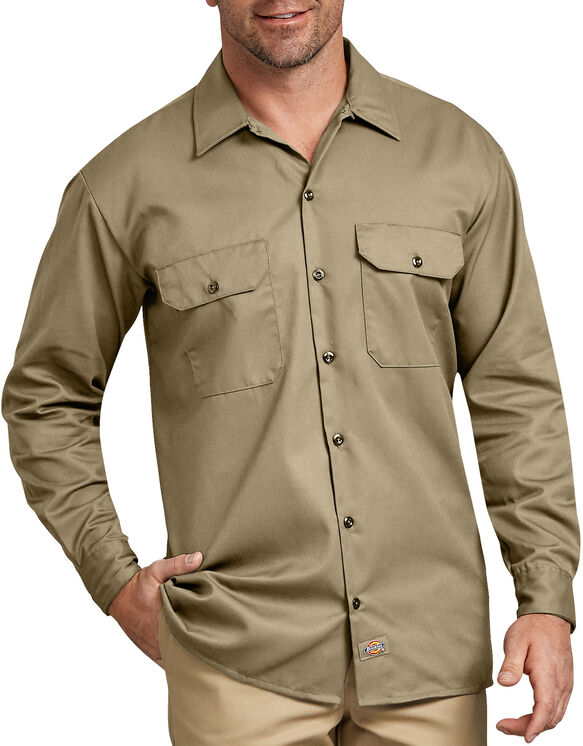 Long Sleeve Work Shirt - Military Khaki (KH)