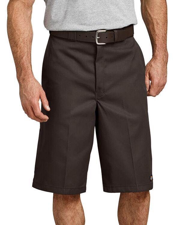 "13"" Loose Fit Multi-Use Pocket Work Short - Dark Brown (DB)"