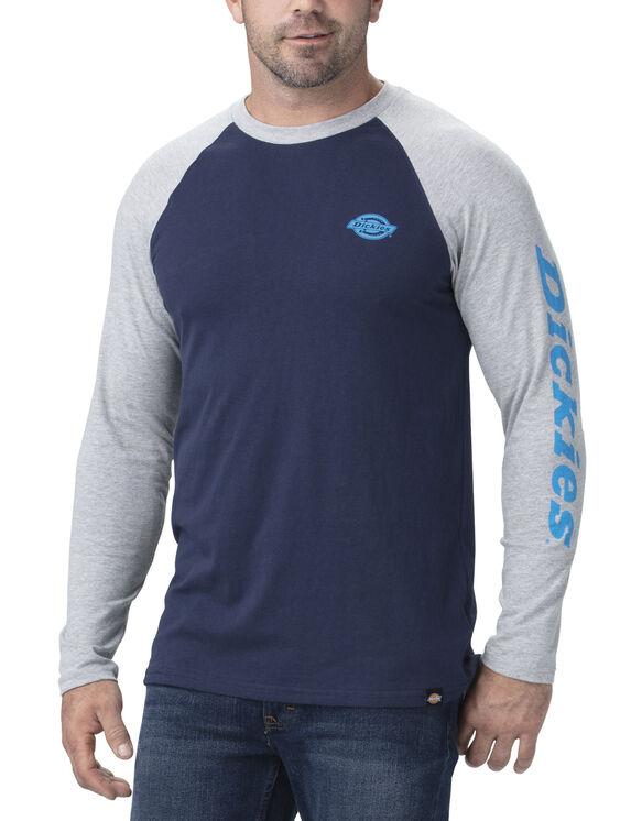 T-shirt à manches longues de style baseball - Ink Navy Heathery Gray (IKHG)