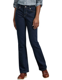 Women's Relaxed Boot Cut Denim Jean - Stonewashed Dark Blue (DSW)