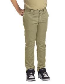 Boys' Flex Skinny Fit Straight Leg Pants, 4-20 - Military Khaki (KH)