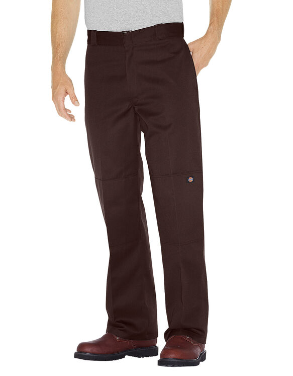 Loose Fit Double Knee Work Pant - Dark Brown (DB)