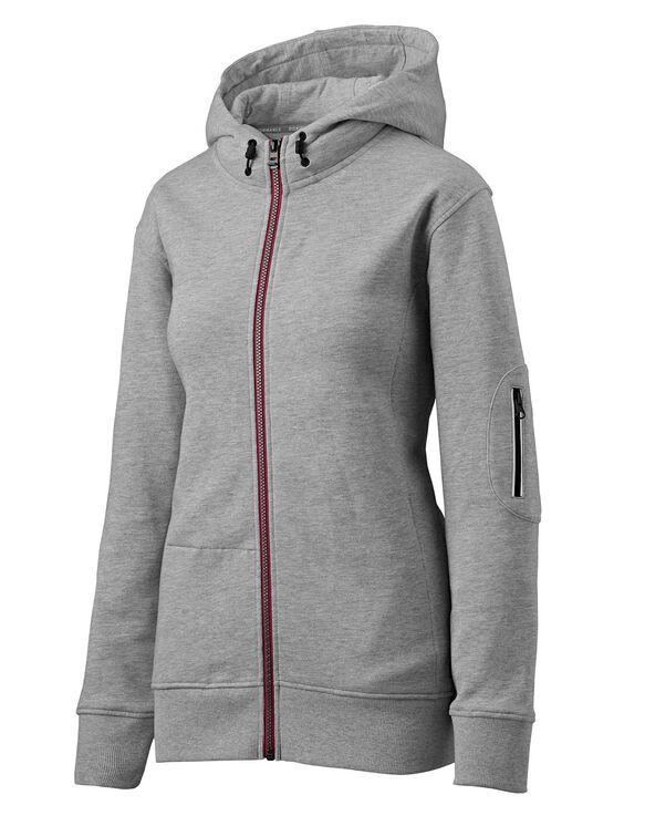 Women's Performance Workwear Full Zip Fleece Hoodie - Heather Gray (HG)