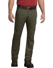 FLEX Regular Fit Straight Leg Tough Max™ Duck Carpenter Pants - Stonewashed Moss Green (SMS)