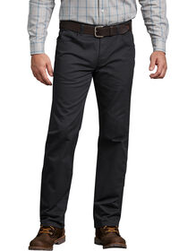 FLEX Regular Fit Straight Leg 5-Pocket Pant - Black (RBK)