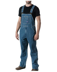 Big Smith® Stonewashed Denim Bib Overalls - Stonewashed Blue (SW9)