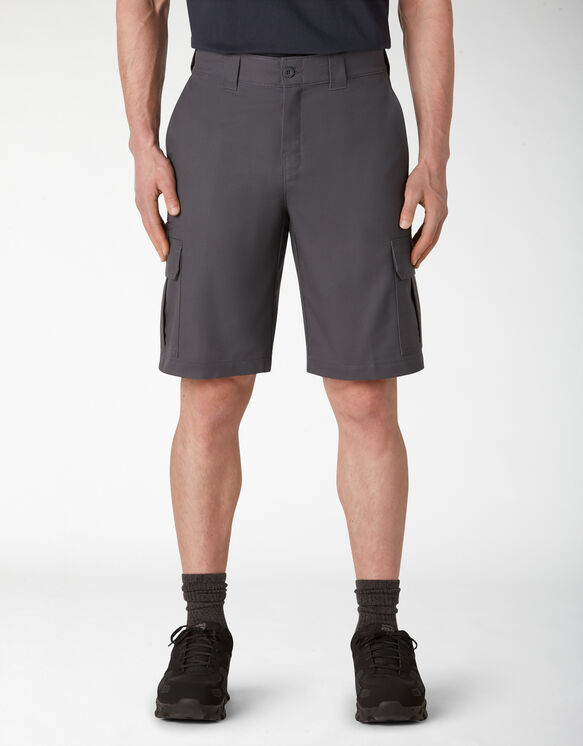 Cooling Temp-iQ™ Active Waist Twill Cargo Shorts - Charcoal Gray (CH)
