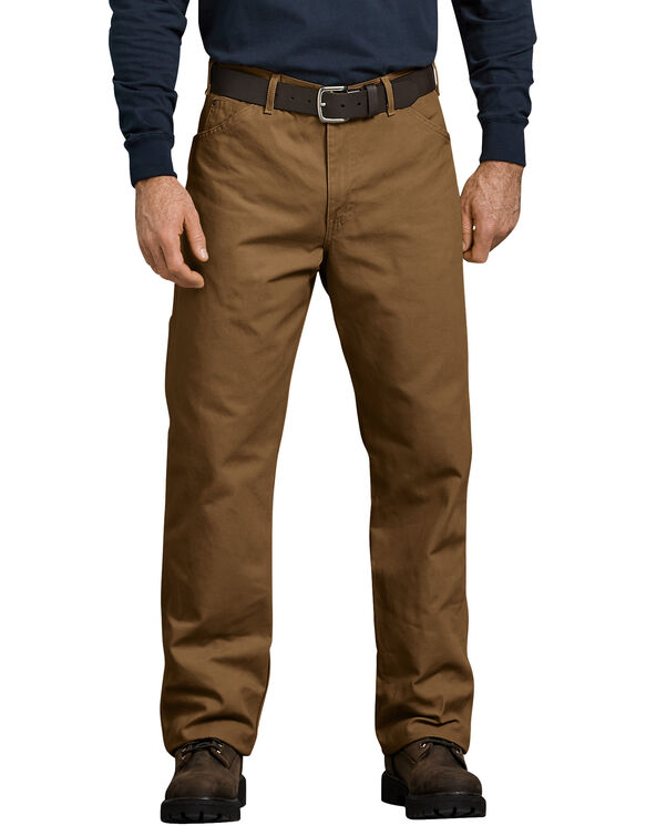 31a77af8bb1 Relaxed Fit Straight Leg Carpenter Duck Jeans - Brown Duck ...