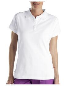 Polo en tissu piqué uni pour femmes - Blanc (WH)