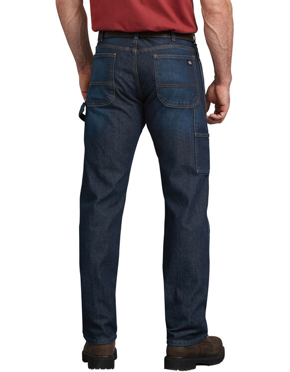 Jeans menuisier à 5 poches Tough Max™ coupe décontractée jambe droite - Dark Blue Wash (TDW)
