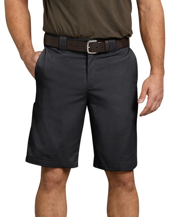 Short de travail en tissu croisé à plusieurs poches de 11 po - Noir (BK)