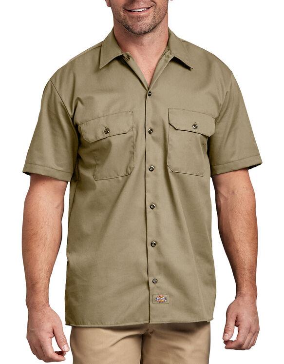 Short Sleeve Work Shirt - Military Khaki (KH)
