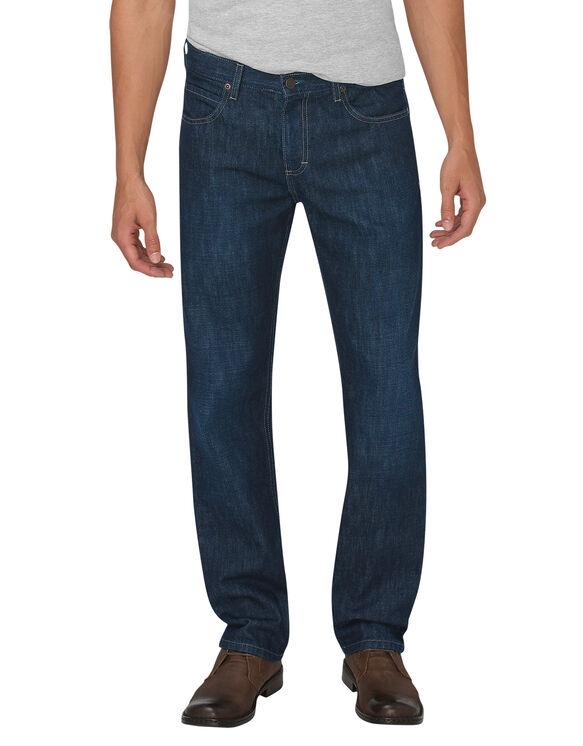 Dickies X-Series Regular Fit Straight Leg 5-Pocket Denim Jean - Tinted Indigo Blue (HTI)