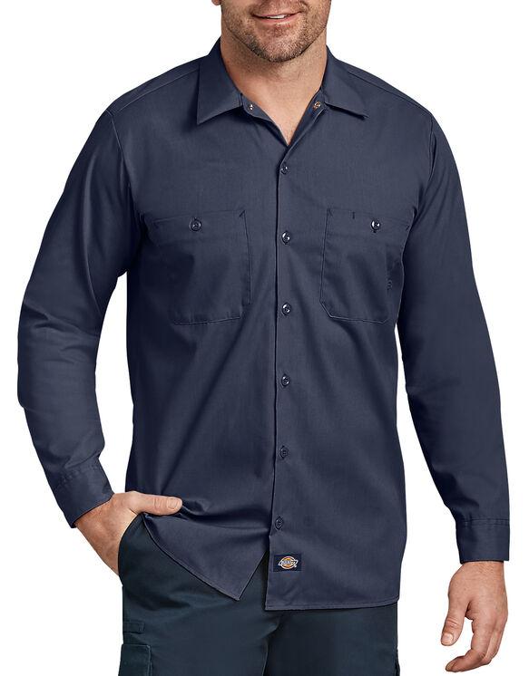 Chemise de travail industrielle à manches longues - Navy Blue (NV)