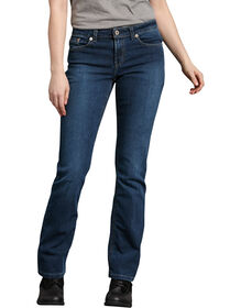 Women's Relaxed Boot Cut Denim Jean - Stonewashed Medium Blue (MSW)