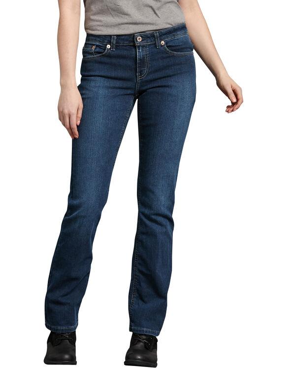 Women's Relaxed Boot Cut Denim Jean - Stonewashed Medium Blue (MSW)
