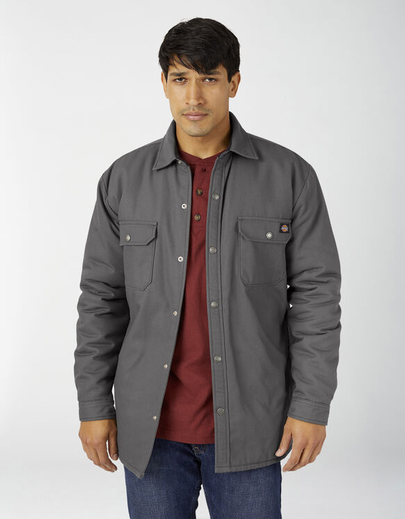 Veste-chemise en coutil doublée de flanelle avec traitement Hydroshield - Slate Gray (SL)