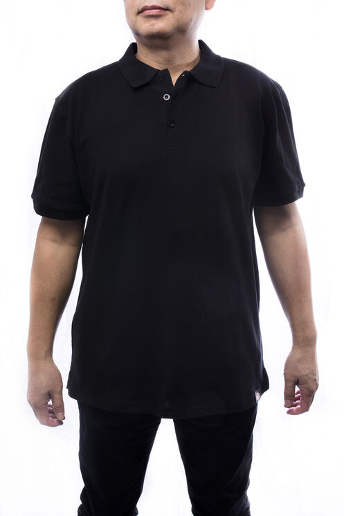 Men's Short Sleeve Polo Shirt - Black (BK)