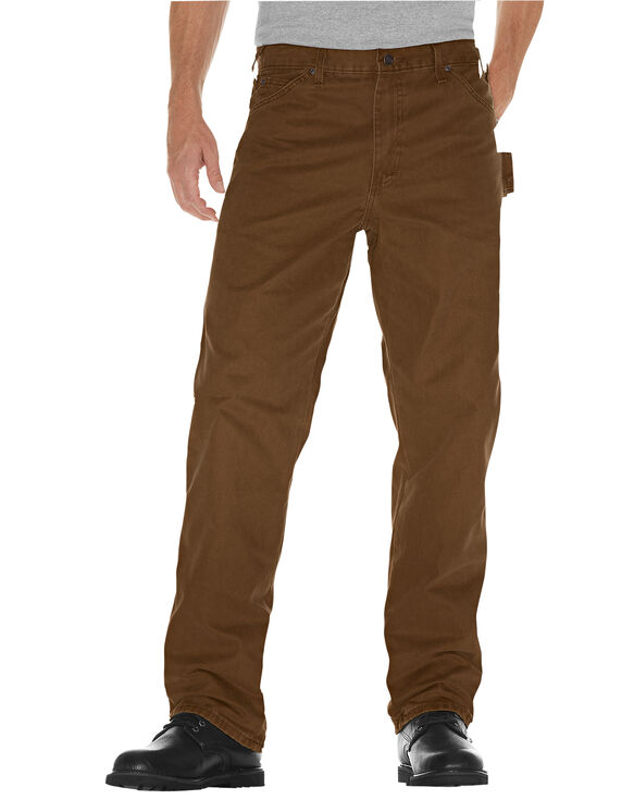 Relaxed Fit Straight Leg Sanded Duck Carpenter Jean - Timber Brown (RTB)