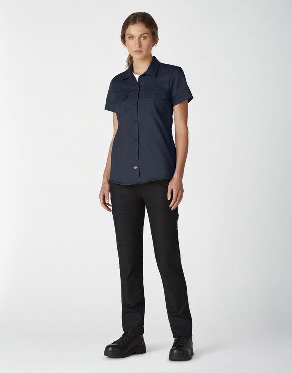 Women's Flex Short-Sleeve Work Shirt - Dark Navy (DN)