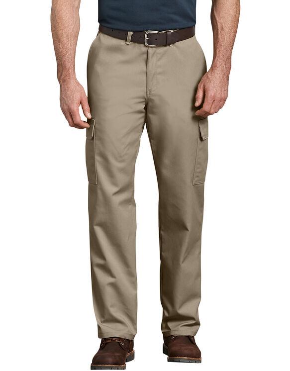 Industrial Relaxed Fit Straight Leg Cargo Pants - Desert Khaki (DS)